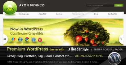 ThemeForest wordpress企业主题 - Akon