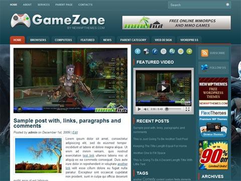 免费WordPress游戏主题:GameZone