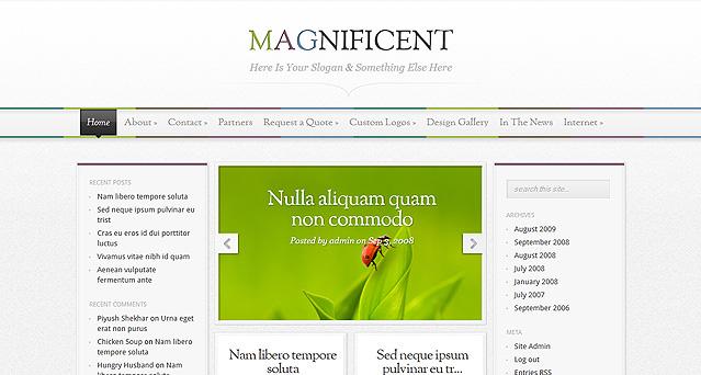 Elegantthemes wordpress主题-Magnificent(已添加汉化包)