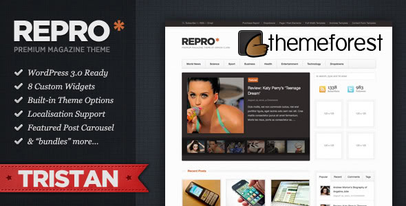 Themeforest wordpress cms主题 - Repro