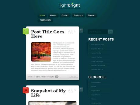 [推荐]Elegantthemes wordpress博客主题 - LightBright
