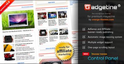 [推荐]Themeforest Wordpress CMS主题-Gadgetine