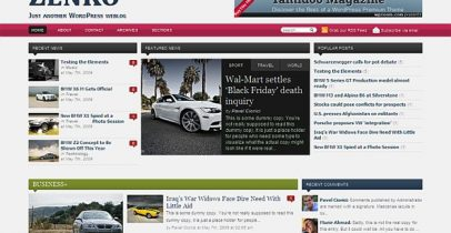 wpzoom wordpress CMS主题 - zenko magazin