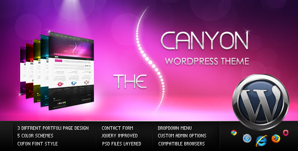 ThemeForest wordpress企业主题 - The Canyon