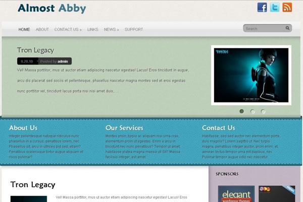 wordpress免费主题-almost abby