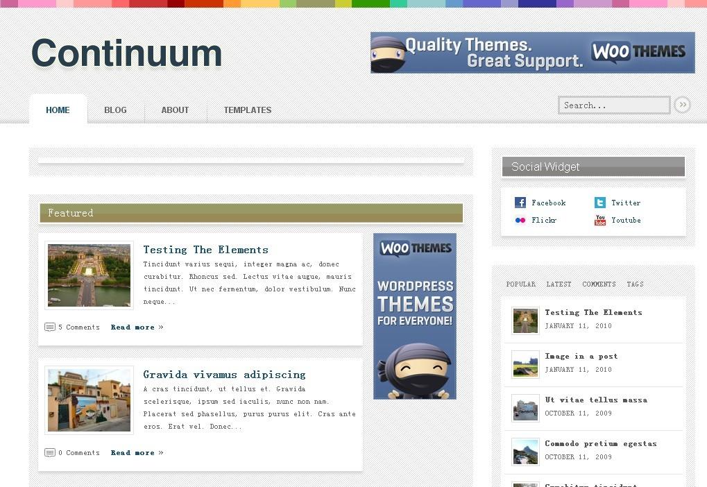 [推荐]Woothemes Wordpress主题-continuum