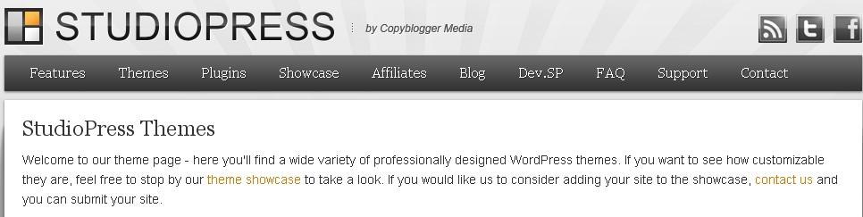[推荐]StudioPress所有wordpress主题打包下载