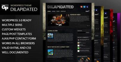 ThemeForest wordpress博客主题 - Dilapidated