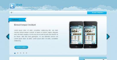 WordPress蓝色杂志风格主题-iTwit