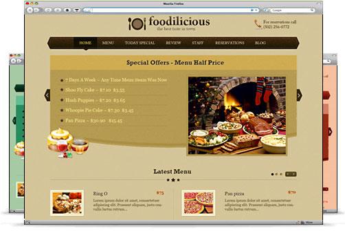 Templatic wordpress美食主题-Foodilicious