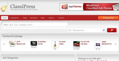 Wordpress分类信息推荐类主题 - Classipress