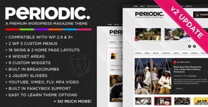 Themeforest杂志风格wordpress主题-Periodic V2.4.1