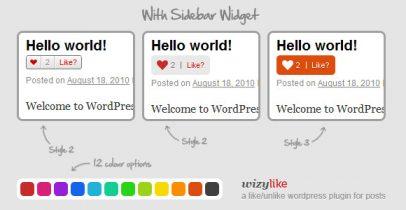 wordpress喜欢插件-WizyLike v1.6