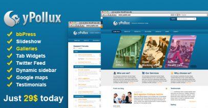 蓝色wordpress企业主题-yPollux(支持bbPress)