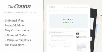 ThemeForest wordpress企业主题-The Cotton