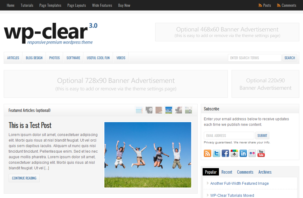 wordpress cms主题/新闻资讯主题 - WP-Clear v3.2.1