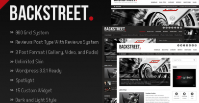 ThemeForest wordpress cms主题 - Backstreet