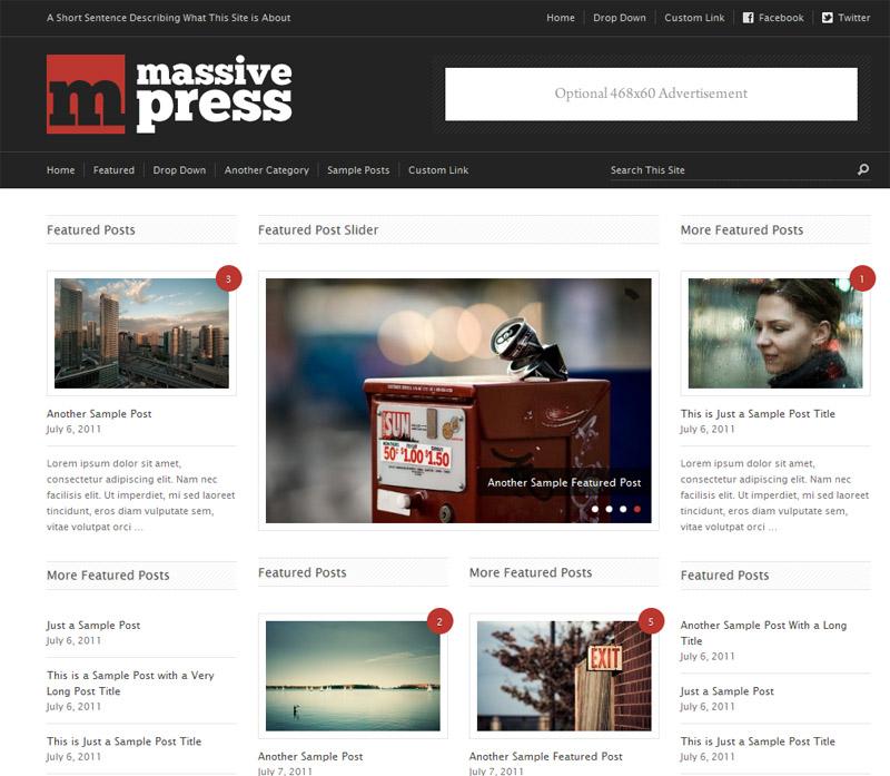 新闻杂志类wordpress主题-Massive Press