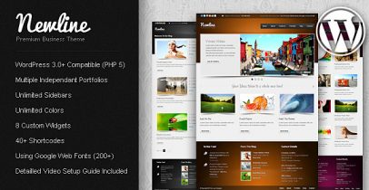 ThemeForest wordpress企业主题-Newline