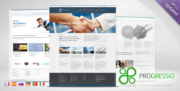 ThemeForest wordpress企业主题-Progressio
