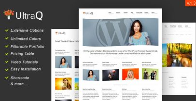 ThemeForest wordpress企业主题-UltraQ
