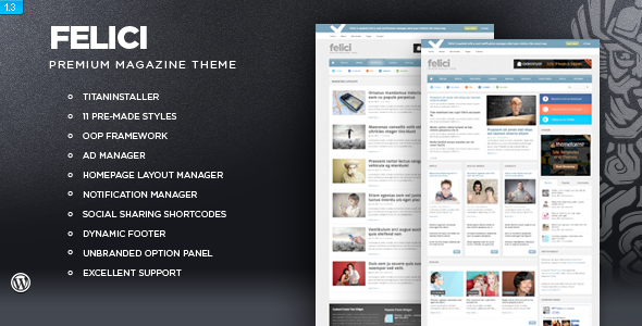 ThemeForest wordpress杂志主题 - Felici