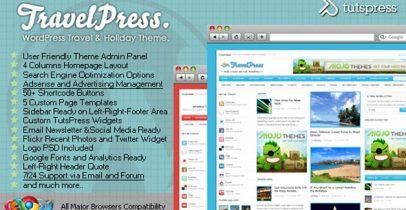 旅游类wordpress cms主题 - TravelPress