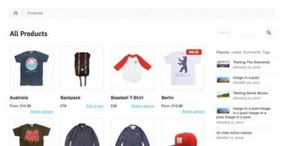WooThemes wordpress网店主题 - Whitelight WooCommerce