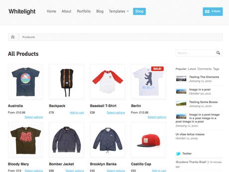 WooThemes wordpress网店主题 - Whitelight WooCommerce