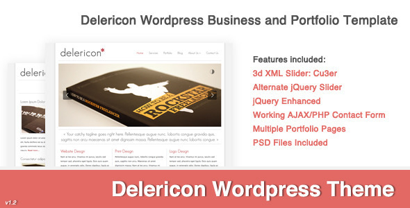 ThemeForest wordpress企业主题 – Delericon