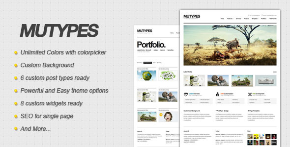 ThemeForest wordpress企业主题 - Mu Types
