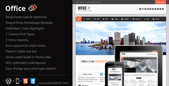 ThemeForest wordpress企业主题 - Office v1.97