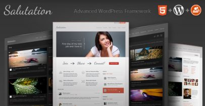 WordPress+BuddyPress主题 - Salutation