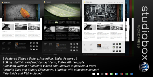 ThemeForest wordpress企业主题 - Studio Box v1.4