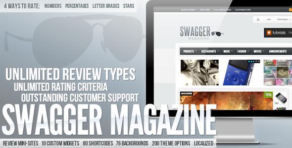 【推荐】ThemeForest wordpress cms主题 - SwagMag V1.6