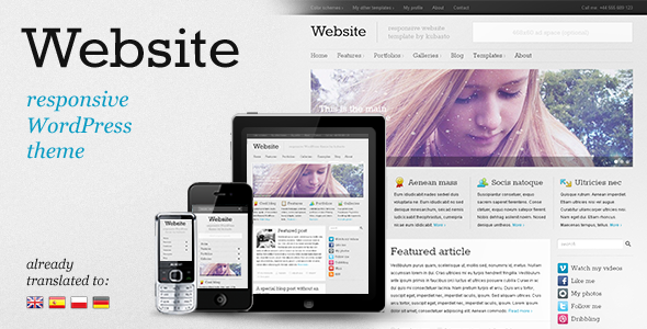 ThemeForest wordpress企业主题 – Website