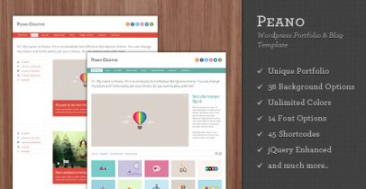ThemeForest wordpress图片主题 - Peano