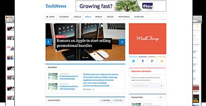 Templatic wordpress新闻资讯主题 - TechNews