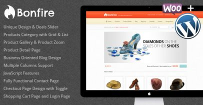 ThemeForest wordpress网店主题 - Bonfire