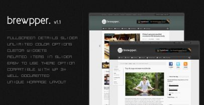 ThemeForest wordpress cms主题 - Brewpper