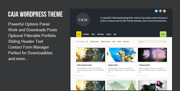 ThemeForest wordpress主题 - Caja