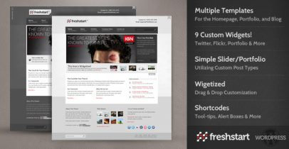 ThemeForest wordpress主题 - FreshStart