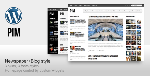 ThemeForest 杂志类wordpress主题 - PIM