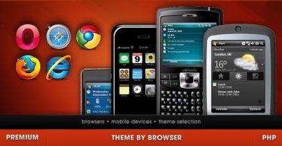 wordpress多浏览器主题选择插件 - Theme By Browser