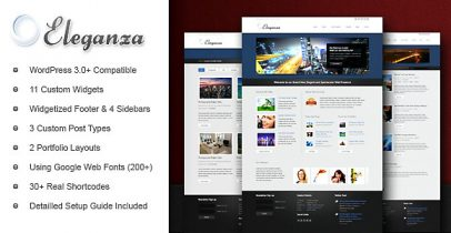 ThemeForest wordpress企业主题 - Eleganza