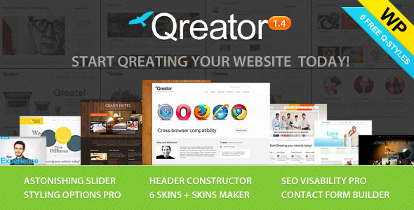 ThemeForest wordpress企业主题 - Qreator