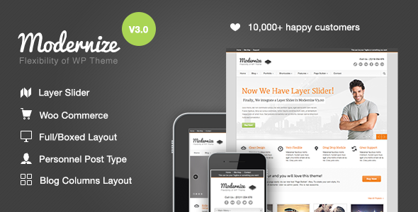 Modernize ThemeForest wordpress企业主题
