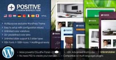 ThemeForest wordpress企业主题 - Positive