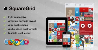 ThemeForest wordpress图片主题 - SquareGrid