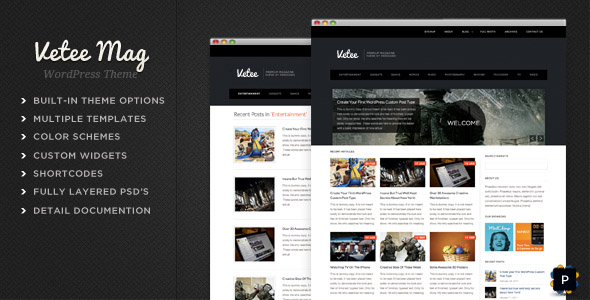 ThemeForest wordpress杂志主题 - Vetee Magazine